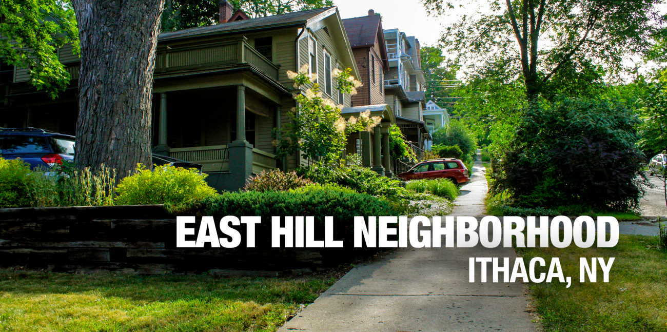 Ithaca East Hill apartments neighborhood banner image