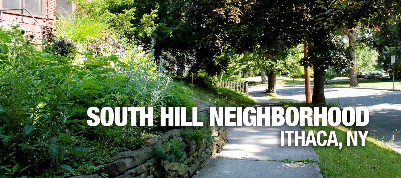 Ithaca South Hill apartments neighborhood banner image