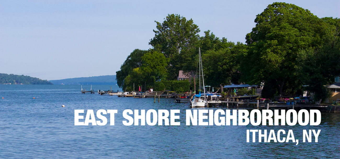 Ithaca East Shore apartments neighborhood banner image